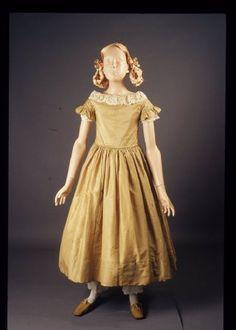 1840er, Mädchenkleid aus Seide, USA?