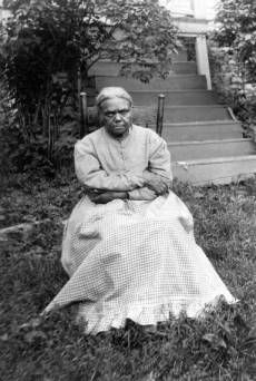 Photograph of Polly Jackson, a conductor on the Underground Railroad. Polly Jackson joined a community of free blacks in the settlement of Africa, Ohio, a free and predominantly African-American community like Berlin Crossroads. There were several communities such as Berlin Crossroads and Africa in Ohio.