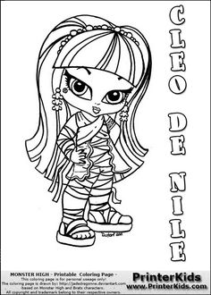 Little Frankie Stein Monster High Coloring Page | Monster High ...