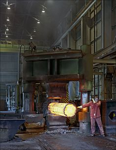 ELLWOOD CITY FORGE, 1500 ton press