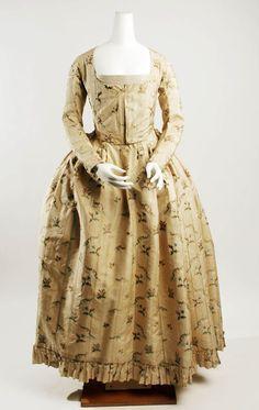 Dress (German) ca. 1790-94 silk