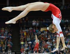 Russia's gymnast Victoria Komova performs during the 2012 London Olympics