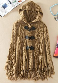 Hooded Fringed Cape
