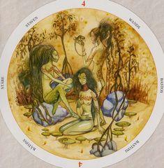 Four of Wands - Circle of Life Tarot by Maria Distefano