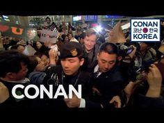 Team Coco: Conan's Rock Star Airport Reception In Korea