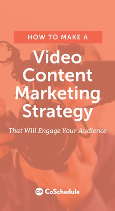 If a picture is worth 1,000 words, how much is a video worth? Get started with video marketing today! http://coschedule.com/blog/video-marketing-strategy/?utm_campaign=coschedule&utm_source=pinterest&utm_medium=CoSchedule&utm_content=How%20To%20Make%20A%20Video%20Content%20Marketing%20Strategy%20To%20Boost%20Your%20New%20Series