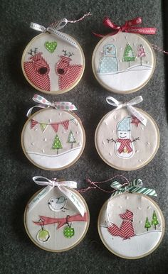 My own hoop decorations, fun to make!