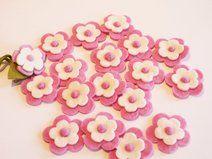 Filzblüten 10 Stück,gefilzte Blüten, Applikation