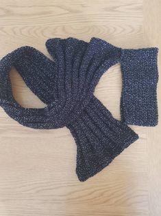 Hand made winter glittery set, scarf and ear warmer set, super cosy black winterwear, hand crocheted an knit pair Hand Crochet, Hand Knitting, Knit Crochet, Handmade Scarves, Handmade Gifts, Winter Warmers, Knitted Headband, Long Scarf, Ear Warmers