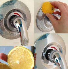 Amaturen mit Zitrone sauber machen