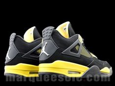 air Jordan (4) retro thunder yellow& black