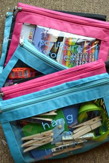 Busy Bag Extravaganza! Some fun ideas to add to our Busy Binders!