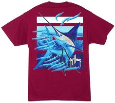 Guy Harvey Ballyhoo Back-Print T-Shirt