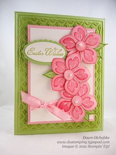 Stampin' Up!  Blossom Petals  Dawn Olfacheske  Easter