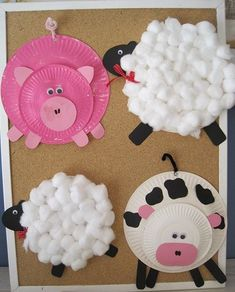 farm animal crafts for kids hot pins creative school crafts home workout equipment used Kids Crafts, Craft Activities For Kids, Toddler Crafts, Crafts To Do, Craft Projects, Craft Ideas, Farm Activities, Spanish Activities, Stick Crafts