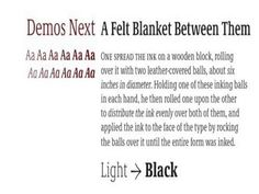 Font demos by Linotype