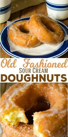Old Fashioned Sour Cream Doughnuts for Dunking Classic Sour Cream Doughnuts are the perfect companion to coffee. Soft and cakey on the inside with a flakey sweet glaze on the outside, these old fashioned doughnuts are just like the doughnut shop! Baked Donuts, Doughnuts, Baked Donut Recipes, Baked Sour Cream Donut Recipe, Delicious Desserts, Dessert Recipes, Yummy Food, Doughnut Shop, Homemade Donuts