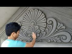 You are watching the relief sculptures for the house, reliefs for construction works. Channel to share professional art experiences and videos daily. Cement Design, Cement Art, Cement Crafts, Ceiling Design, Wall Design, Pop Design Photo, Sculpture Art, Sculptures, Model House Plan