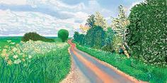 Learn more about Early Blossom, Woldgate by British artist David Hockney. British Artist, Abstract Landscape, Painting, David Hockney Landscapes, Art, Pictures, Landscape Art, Pop Art, David