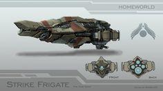 [Homeworld] Strike Frigate by BoodIron