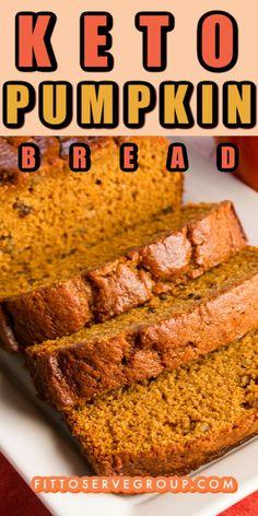 Low Carb Bread, Low Carb Keto, Low Carb Recipes, Healthy Bread Recipes, Banana Bread Recipes, Primal Recipes, Keto Bread, Healthy Pumpkin Bread, Pumpkin Banana Bread