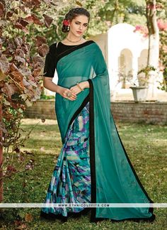 Imperial Georgette Patch Border Work Designer Saree   Email- support@ethnicoutfits.com Call - +918140714515 What's app/Viber- +918141377746
