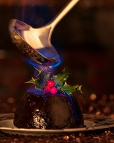 Christmas Pudding! I've always wanted to try this and it has religious symbolism. I'm leaning towards this for dessert. ...Plus, you can light it on fire!