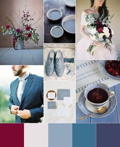 Sophisticated Cherry, Cream and Powder Blue Wedding   Fly Away Bride - @flyawaybride http://flyawaybride.com/red-white-and-blue-wedding/