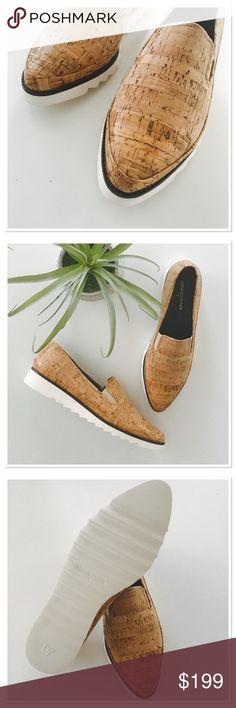 NWOB Donald J Pliner cork slip on Never worn. So unique! Very comfortable. Incredibly lightweight. Elastic for easy on/off. Size 9 Donald J. Pliner Shoes