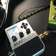 The BeatBuddy is the Drum Machine for Live Performances with realistic fills, song parts, transitions, and foot control. Electric Guitar And Amp, Electric Guitars, Guitar Amp, Bass Pedals, Guitar Pedals, Blues Guitar Lessons, Best Drums, Vintage Drums, Drum Machine