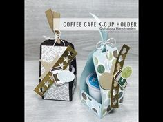 Super fun project for you all today! I've had the idea for this K-cup holder since I saw the Coffee Break Suite in the New Catal. Mini Coffee Cups, Coffee Set, Coffee Break, Starbucks Crafts, Starbucks Coffee, K Cup Holders, Pots, Coffee Cards, Coffee Logo