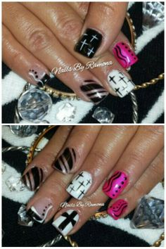 58 Best Cross Nail Design Images On Pinterest Pretty Nails Nail