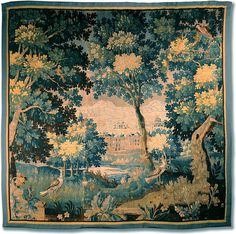 18th C. French Verdure or Garden Tapestry - 1760 - on Ruby Lane $23,500