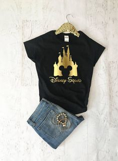 Disney Squad Shirts, Disney Shirts For Women, Girls Disney Trip Shirts, Women Disney Shirts, Disney Tank Top, Disney World Shirts HOW TO ORDER : - choose size, shirt color, lettering color from the drop down menu -add to cart and purchase -if you have a special request please