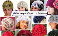 gorros crochet. espanhol