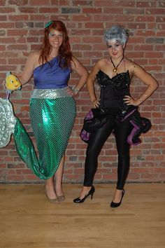 Halloween Costume Ideas - Ursula and Ariel. Oh how fun it was to be Ariel! This is my favorite Halloween costume yet!