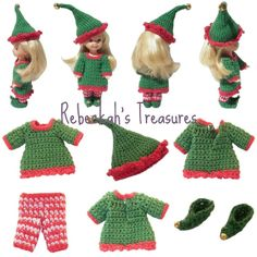 Crochet Elf Kelly by Rebeckah's Treasures