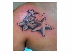 Three Starfish Shoulder Tattoo