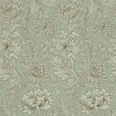 Chrysanthemum Toile Eggshell/Gold 210418