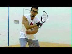 John Ellis shows us how to hit a racquetball backhand shot.