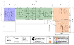 office layout plan with 8 work cubicles. #officelayout#layout#officefloorplans