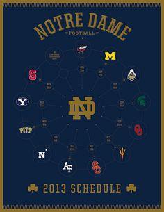 2013 Notre Dame Fighting Irish Football Schedule