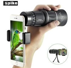 Dual Focus Monocular TelescopeSGODDE Waterproof Spotting Scopes HD Wide View Prism Scope with Hand StrapTripod Universal Cell Phone Adapters for Wildlife Viewing Camping Travelling Samsung Galaxy S6, Wireless Surveillance Camera, Security Surveillance, Buy Smartphone, Smartphone Holder, Dslr Photography Tips, Phone Lens, Magnetic Phone Holder, Wireless Home Security Systems