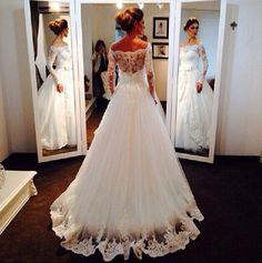 Calda linda e delicada! Faz toda a diferença no vestido de noiva