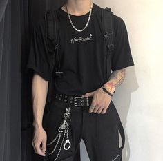 Swaggy Outfits, Edgy Outfits, Mode Outfits, Grunge Outfits, Fashion Outfits, Aesthetic Grunge Outfit, Aesthetic Clothes, Tomboy Fashion, Streetwear Fashion