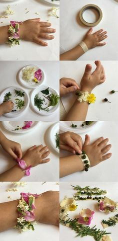 Simple Nature Crafts For Kids: Make Stunning Nature Bracelet, DIY and Crafts, Learn how to make beautiful nature bracelet with kids. One of the best simple nature crafts for kids you can do outside on a nature walk or camping. Crafts For Teens To Make, Easy Arts And Crafts, Summer Crafts For Kids, Arts And Crafts Projects, Spring Crafts, Fun Crafts, Art For Kids, Kids Nature Crafts, Nature For Kids