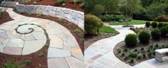 Discover a centuries-old staple stone with the top 40 best flagstone walkway ideas. Explore unique hardscape path designs for your front and backyard. Flagstone Walkway, Brick Walkway, Concrete Patio, Walkway Ideas, Walkways, Patio Ideas, Driveway Landscaping, Landscaping Ideas, Outdoor Landscaping