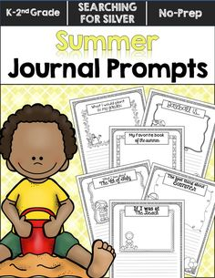 No Learning Loss Here! Fun journal prompts to get kids writing creatively this summer!