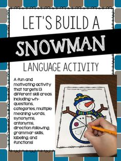 A fun and motivating activity that targets 13 different skill areas including wh-questions, categories, multiple meaning words, synonyms, antonyms, direction following, grammar skills, labeling, and functions!