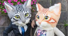 Featured Image for Giant wearable cat heads are now on sale and they are realistically creepy